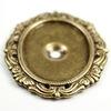 """Сеттинг - основа """"Капитель"""" для камеи или кабошона 25х18 мм (оксид латуни)"""