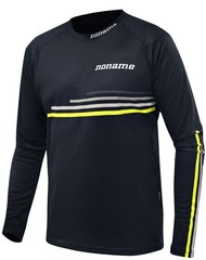 Рубашка беговая Noname Running LS Shirt 18 UX black-yellow