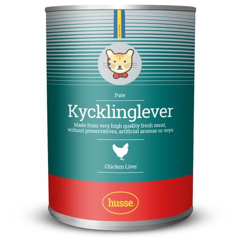 Консервы для кошек печень цыпленка: 400 гр