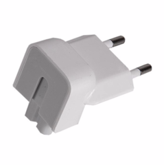 Переходник питания Gembird вилка EU для адаптеров Apple (уголок), белый