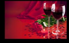 """Постер """"Бокалы с вином"""""""