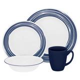 Набор посуды Brushed Cobalt Blue 16 пр, артикул 1117030, производитель - Corelle
