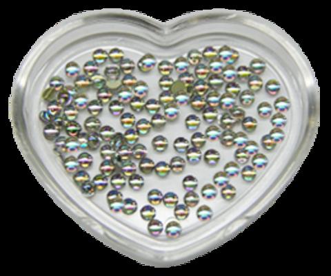 ЭК Стразы акриловые 200шт/62   SS6-голография серебро полусфера