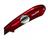 Нож c трапециевидным сменным лезвием красный литой алюминиевый корпус V-REX Tajima  VR101R