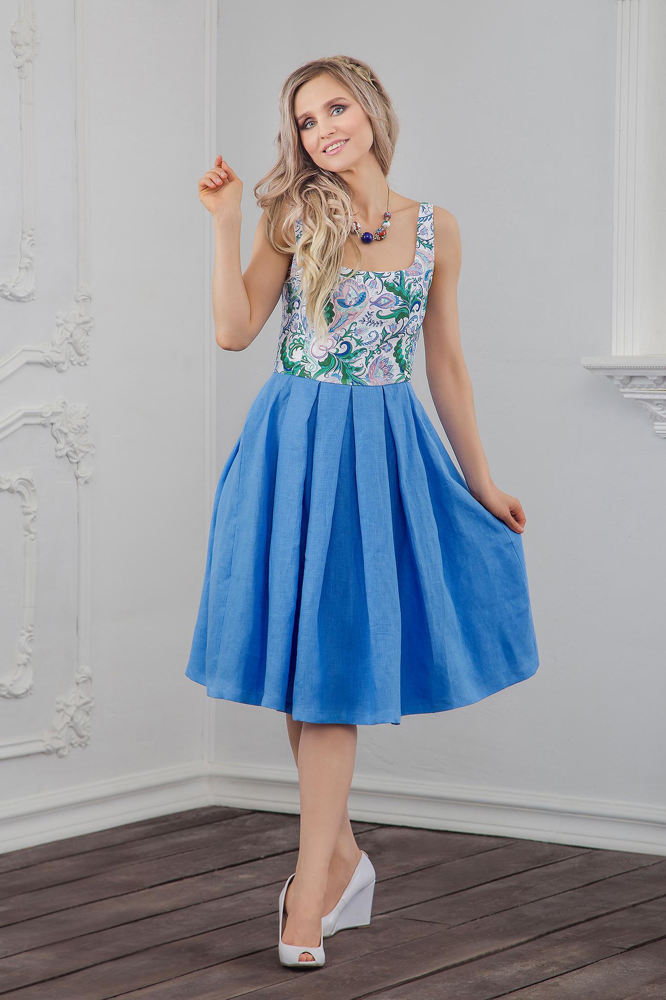 Платье современное Иванка вид сбоку
