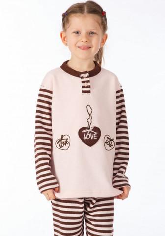 Теплый детский домашний комплект-пижама