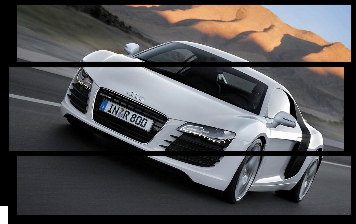 """Модульные картины Модульная картина """"Audi R8"""" М2945.png"""