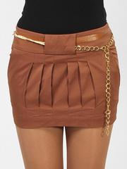 A2075 юбка коричневая