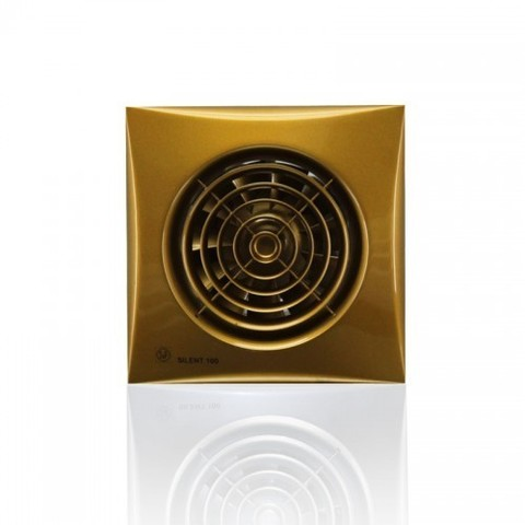 Вентилятор накладной S&P Silent 100 CRZ Gold (таймер)
