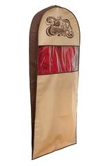 чехол для костюма длинный 130х60х10, шоколадный париж