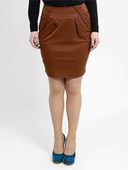 2063 юбка коричневая