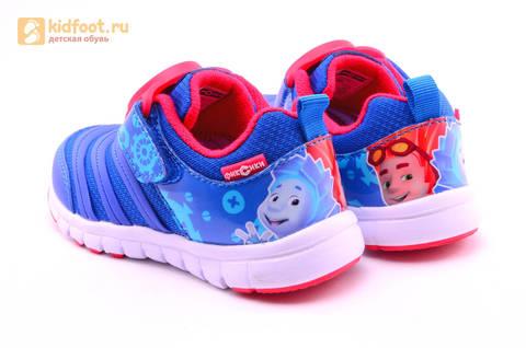 Светящиеся кроссовки для мальчиков Фиксики на липучках, цвет Синий, мигает пряжка на липучке, 5916D. Изображение 7 из 18.