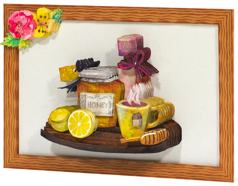 Папертоль Чай с медом — готовая работа, вид сбоку.