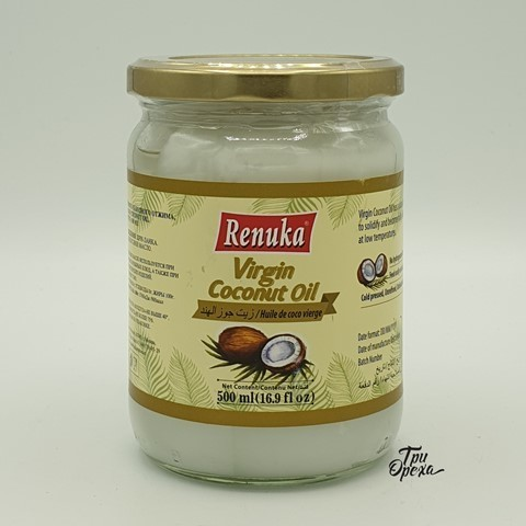 Кокосовое масло первого холодного отжима RENUKA, 500 мл