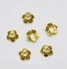 """Шапочка для бусины """"Маленький цветочек"""" 6х2 мм (цвет - золото), 20 штук"""