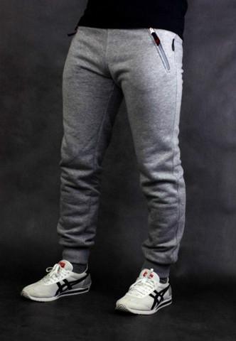 Спорт-брюки Варгградъ мужские серые меланж (б/н)