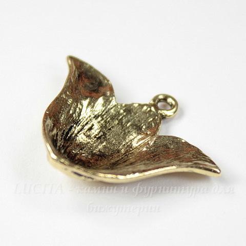 """Подвеска """"Лилия"""" 29х22 мм (цвет - античное золото)"""