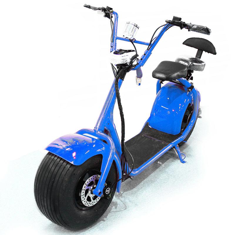 Seev Citycoco синий + Bluetooth-музыка - Электросамокат взрослый, артикул: 865824
