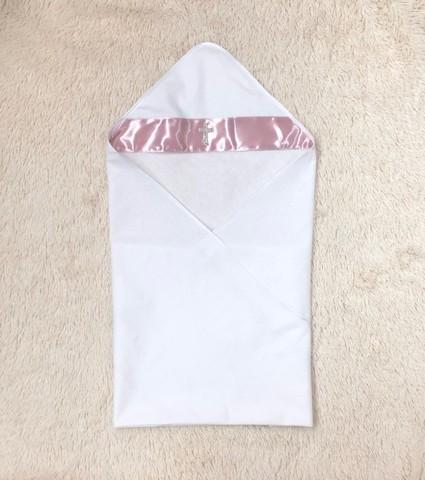 Пеленка крыжма для Крещения Ангел (розовая)