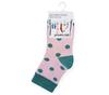 Носочки для малышей розовые с рисунком Горошек