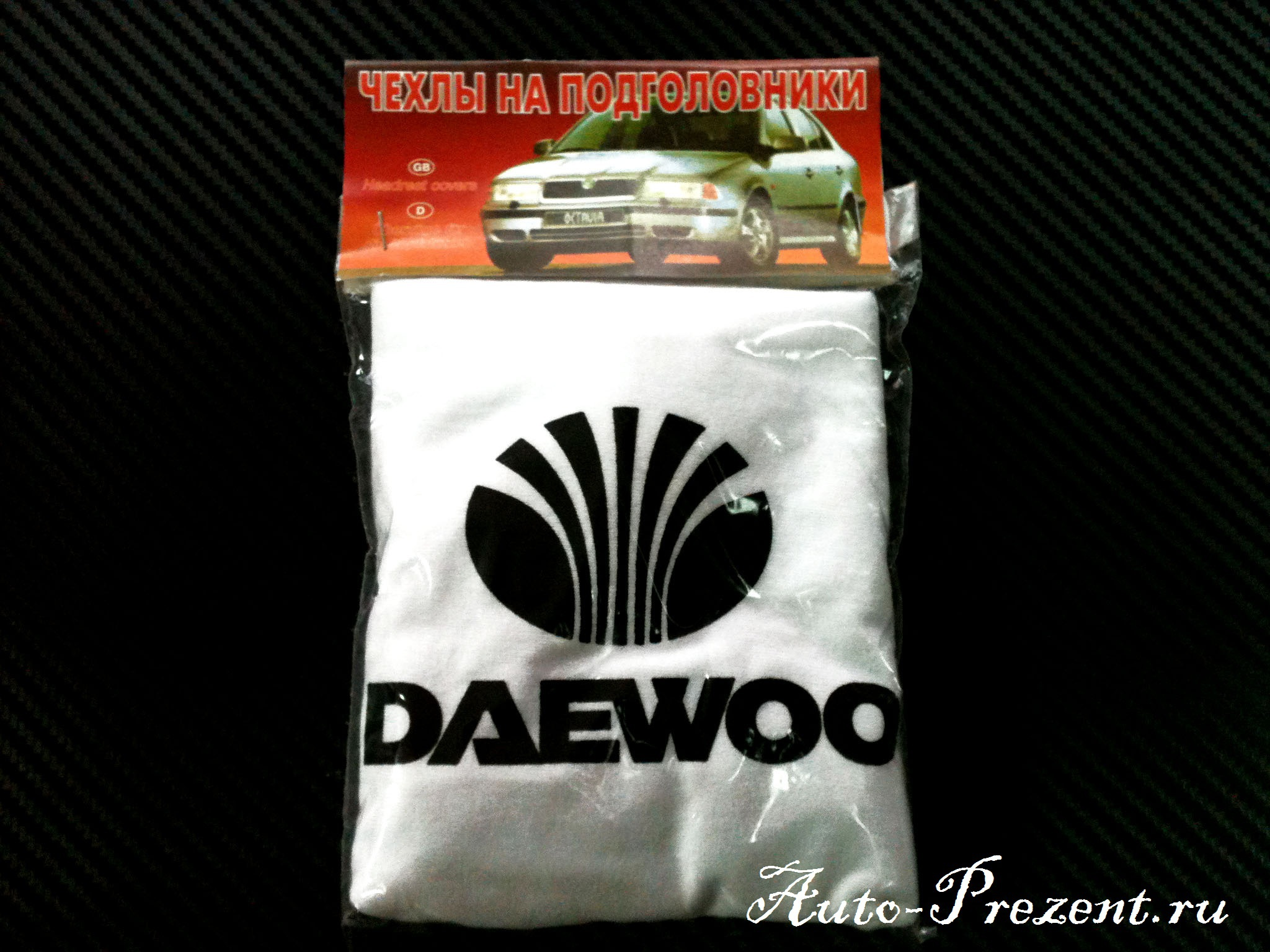 Чехлы на подголовники с логотипом Daewoo
