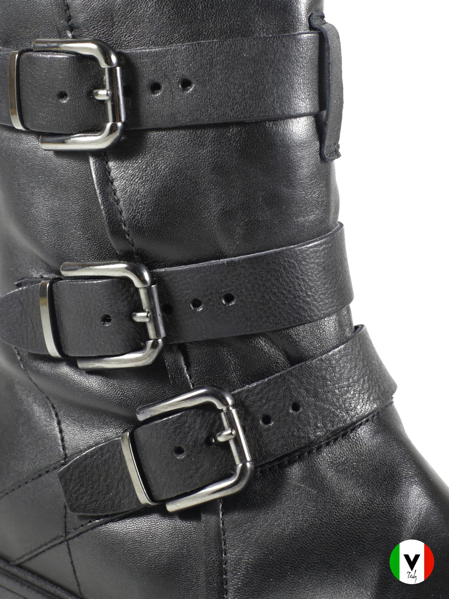 Зимние ботинки Fru.it с кожаными ремешками 5826, артикул 5826, сезон зима, цвет чёрный, материал кожа, цена 16 500 руб., veroitaly.ru