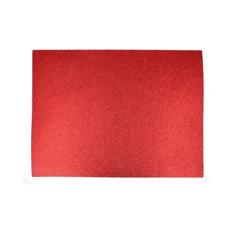 Лист  фоамирана FOM EVA GL-EVA-002 глиттер 42Х60 см КРАСНЫЙ