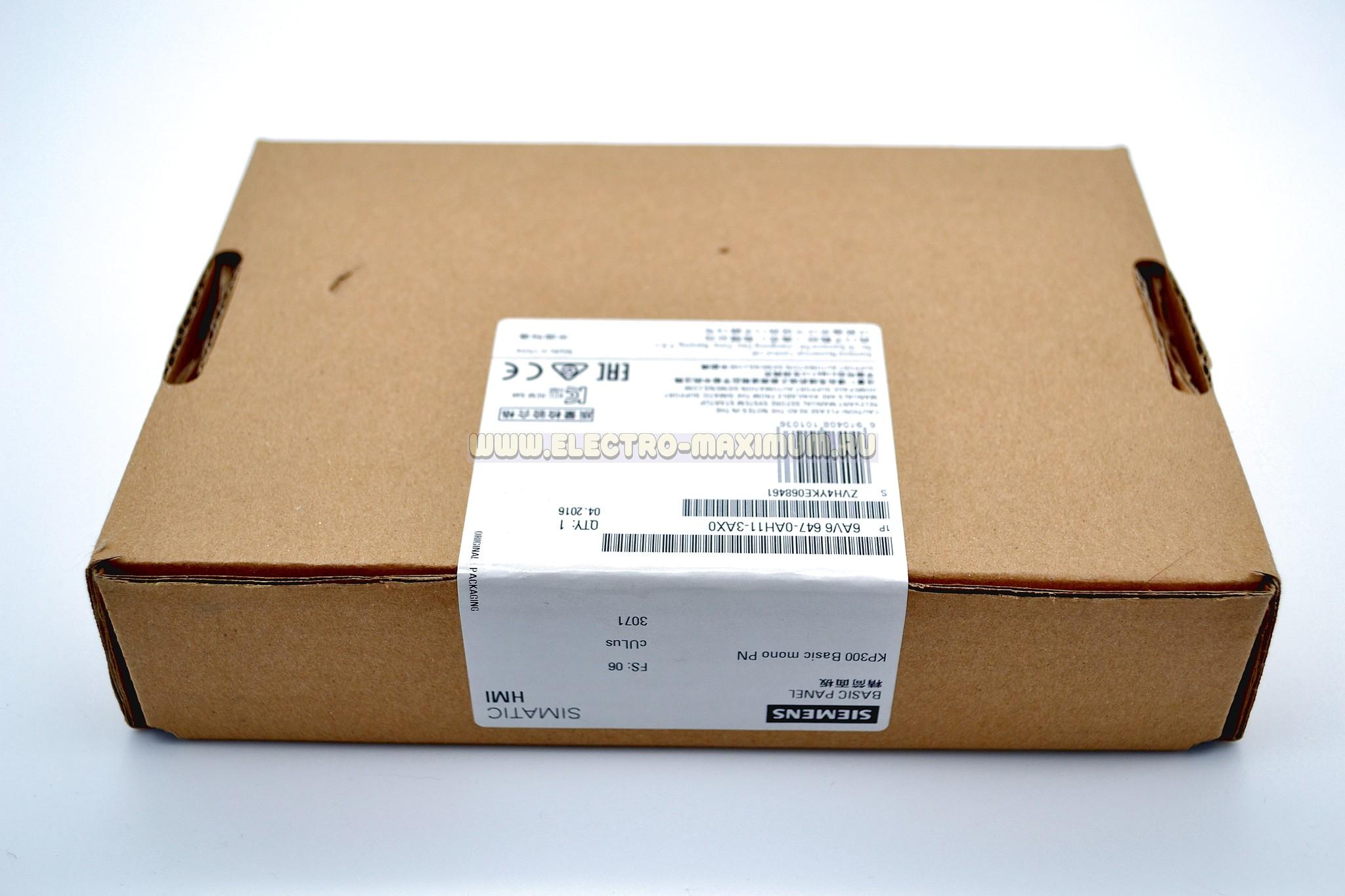 HMI KP300 Basic 6AV6 647-0AH11-3AX0