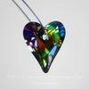 6240 Подвеска Сваровски Сердечко Wild Heart Crystal Vitrail Medium (17 мм)