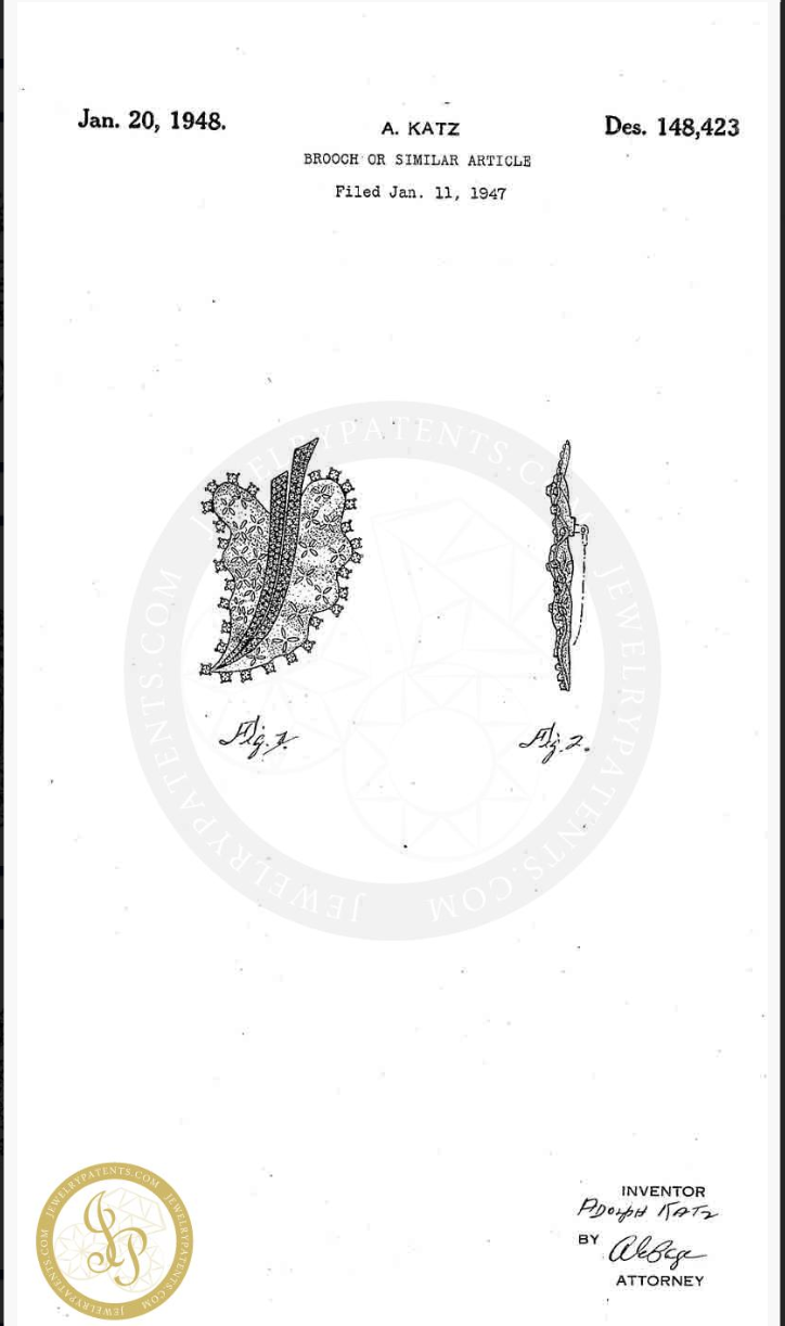 Серебряная брошь CoroCraft. 1940-е годы