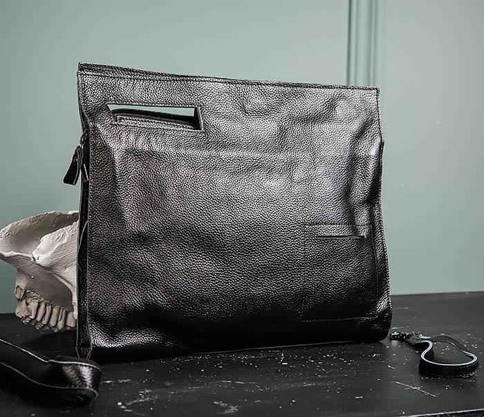 BAG494-1 Мужская сумка папка из мягкой натуральной кожи фото 01