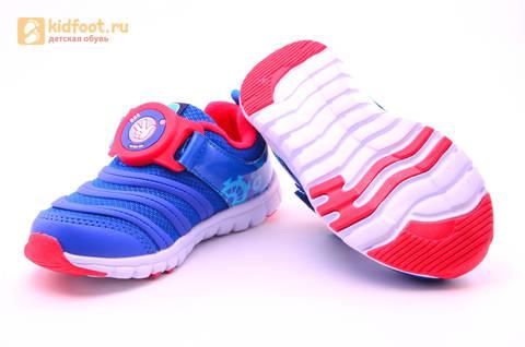 Светящиеся кроссовки для мальчиков Фиксики на липучках, цвет Синий, мигает пряжка на липучке, 5916D. Изображение 11 из 18.