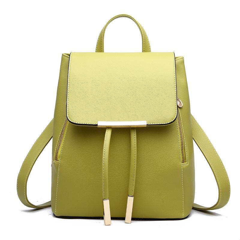 Женский средний рюкзак 24х29х15 см салатовый 3588-4