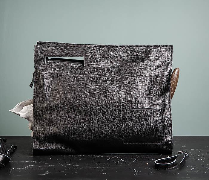 BAG494-1 Мужская сумка папка из мягкой натуральной кожи фото 02