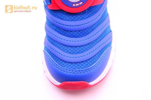 Светящиеся кроссовки для мальчиков Фиксики на липучках, цвет Синий, мигает пряжка на липучке, 5916D. Изображение 12 из 18.