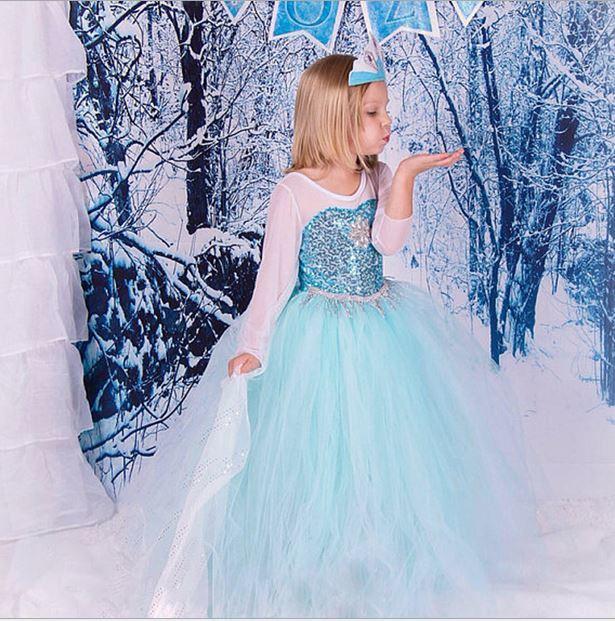 893a254b6 Карнавальное платье Эльзы с пышной юбкой