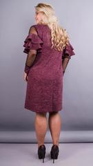Юнона ангора. Нарядное женское платье плюс сайз. Бордо.
