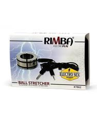 Эрекционное электро-кольцо на пенис, Биплярный - Rimba Electro Ballstretcher/Cockring Solid, Bi-Polar