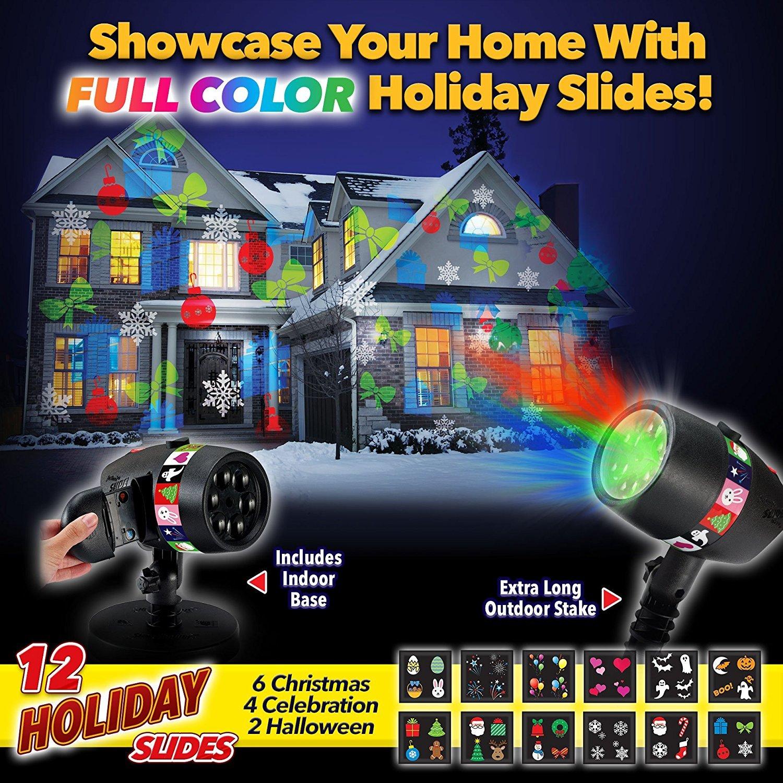 Лазерный проектор Led Slide Star Shower 12 слайдов
