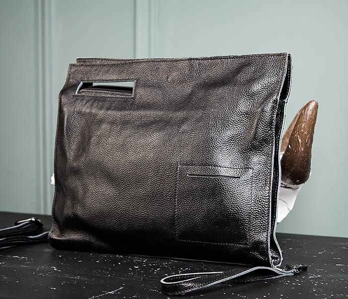 BAG494-1 Мужская сумка папка из мягкой натуральной кожи фото 03