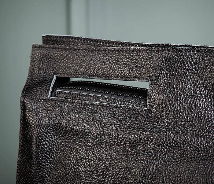 BAG494-1 Мужская сумка папка из мягкой натуральной кожи фото 04