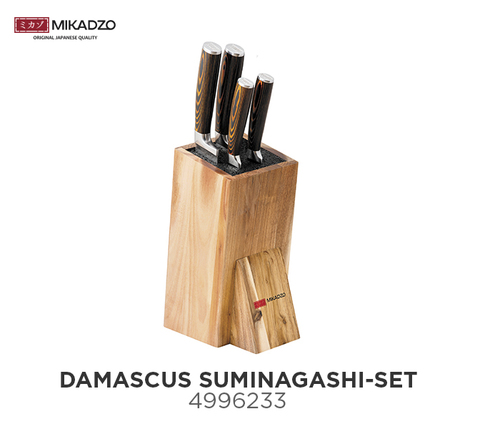 Набор кухонных ножей Mikadzo DAMASCUS SUMINAGASHI-SET