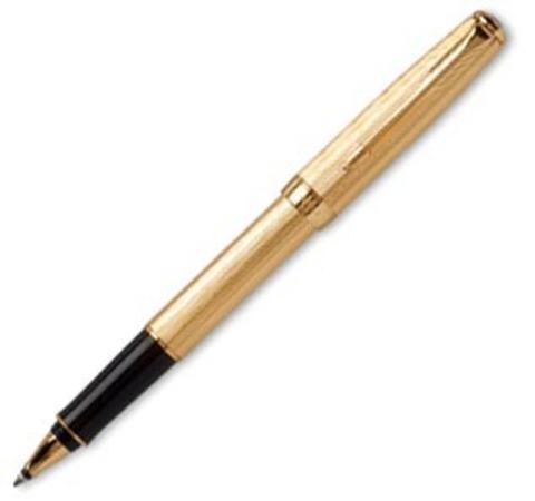 Роллерная ручка Parker Sonnet, цвет - золотистый, перо - золото 18К