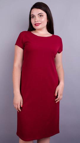 Аріна літо креп. Жіноче плаття великих розмірів. Бордо.