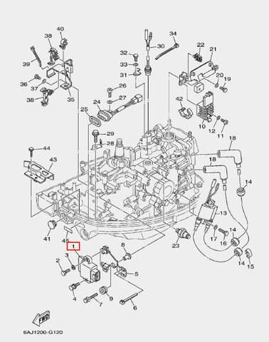 Коммутатор для лодочного мотора F20 Sea-PRO (12-1)