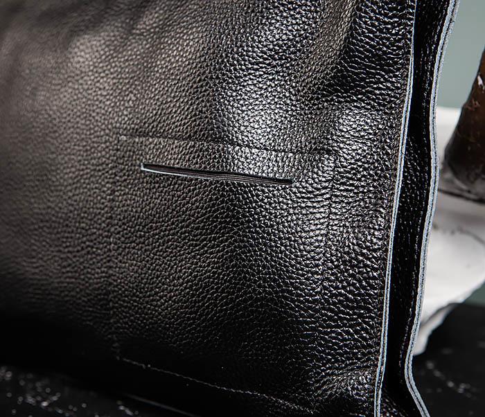 BAG494-1 Мужская сумка папка из мягкой натуральной кожи фото 05