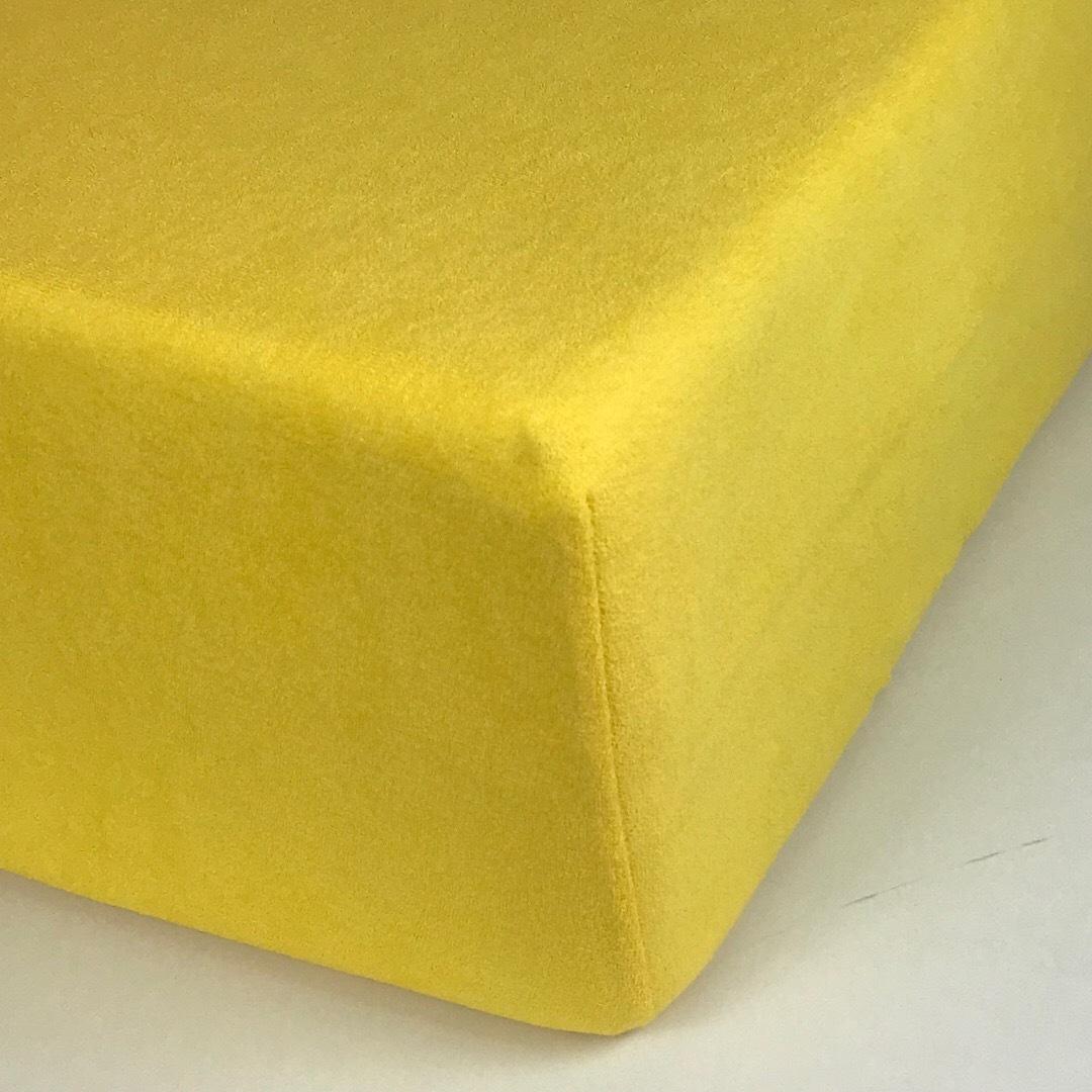 STANDART - Односпальная махровая простыня на резинке 90х200
