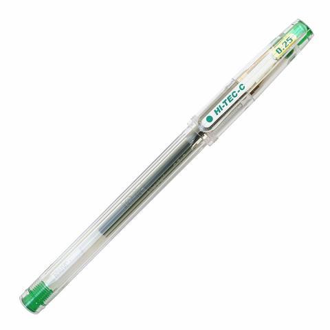 Ручка гелевая 0,25 мм Pilot Hi-Tec-C зелёная