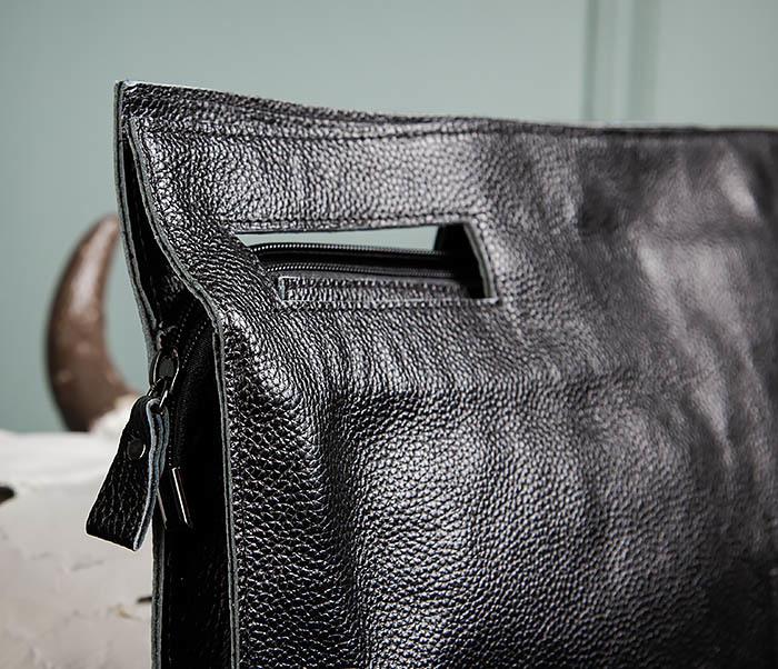 BAG494-1 Мужская сумка папка из мягкой натуральной кожи фото 06