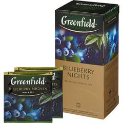 Чай Greenfield Blueberry nights черный со вкусом черники,25пак